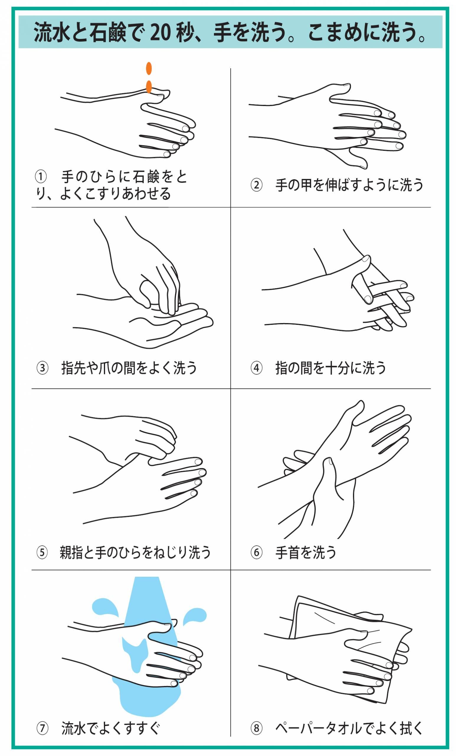 Handwashing procedure