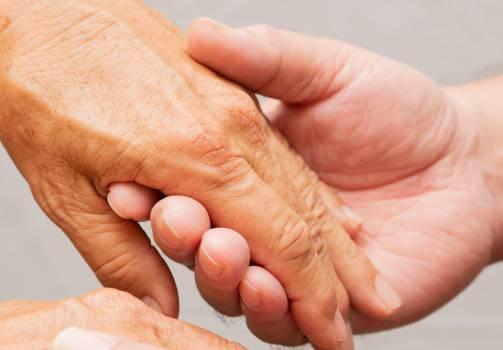 palliative care; caring hands