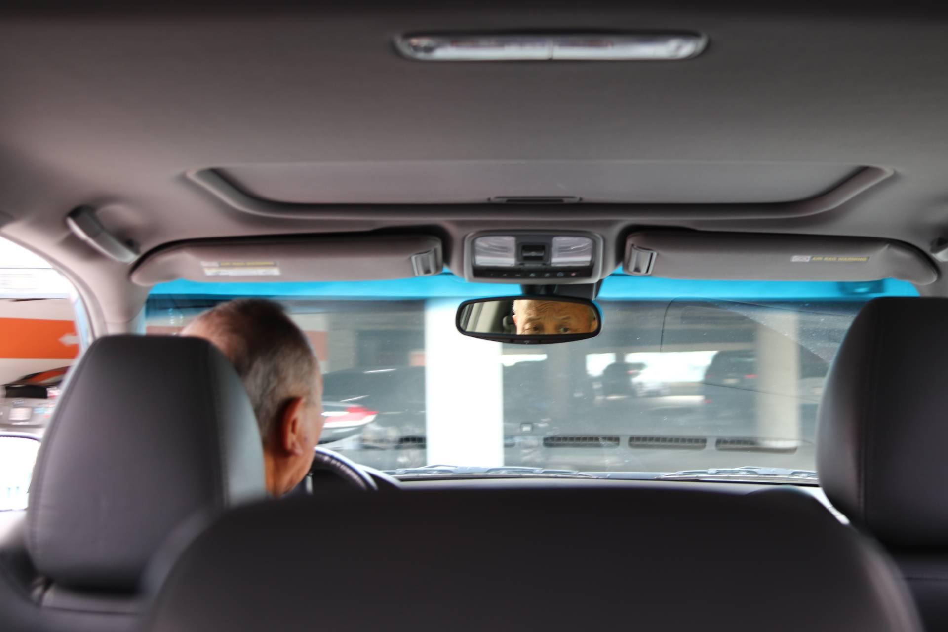 rear view mirror inside a car