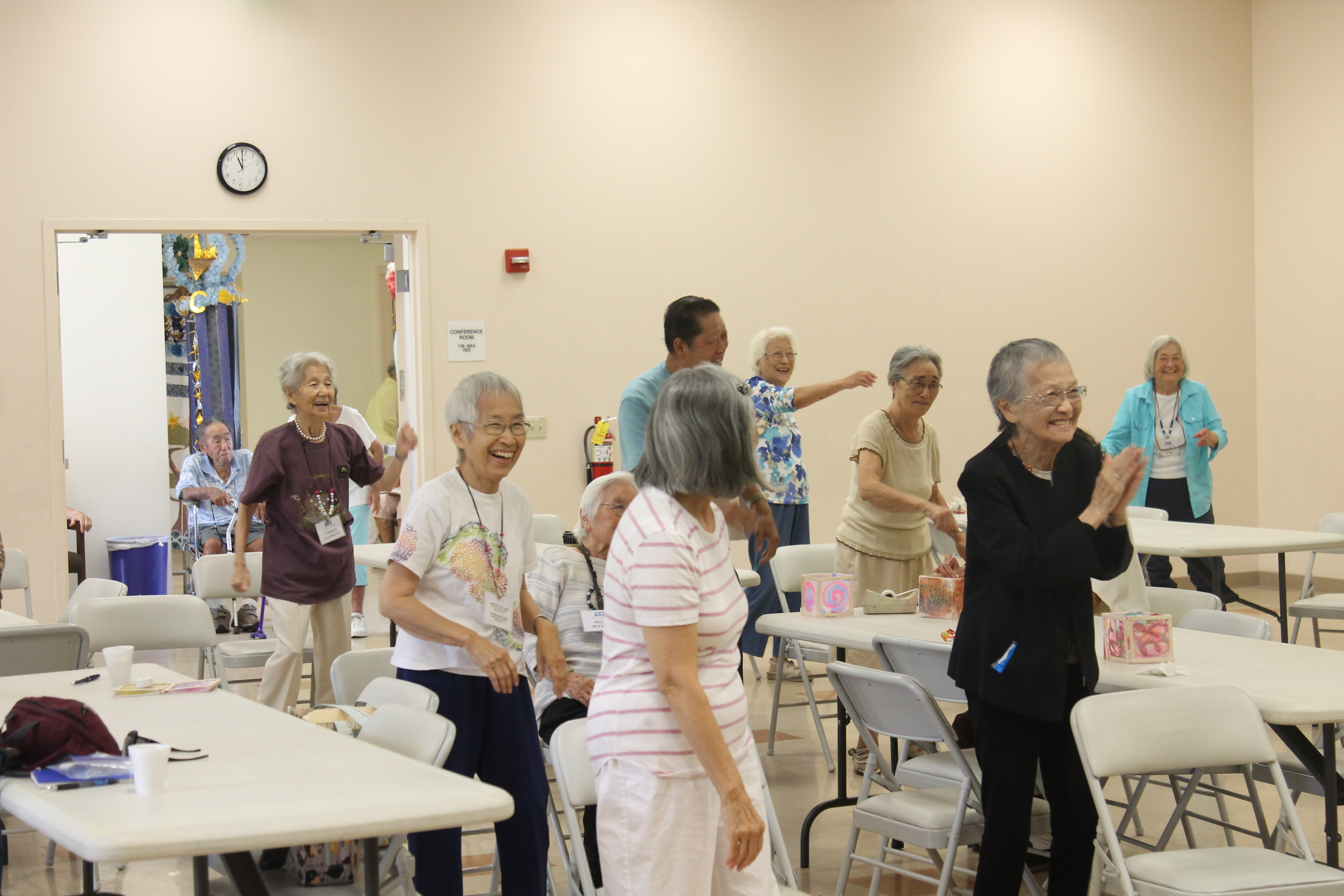 Older Japanese-American adults exercising