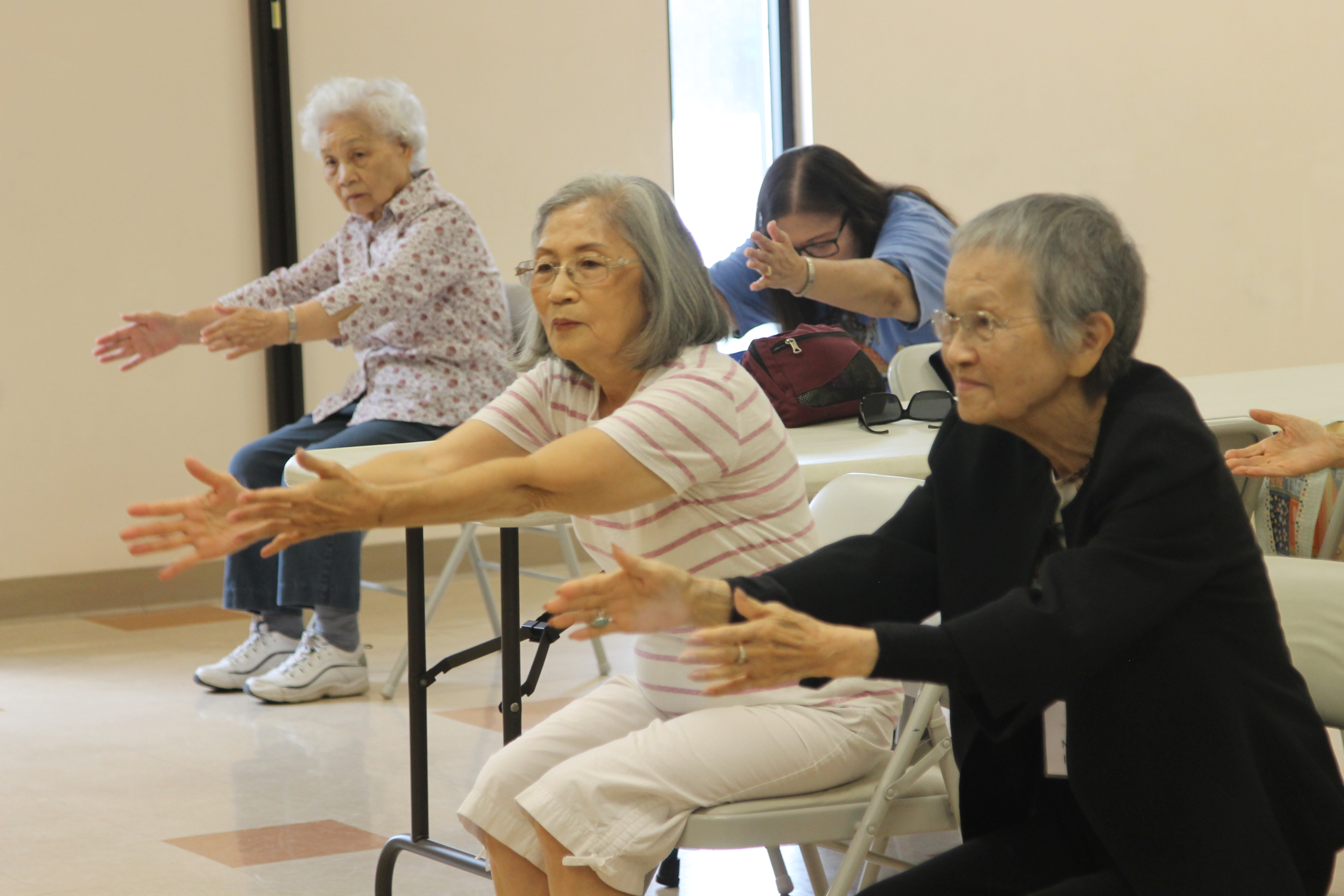 More Older Japanese-American adults exercising
