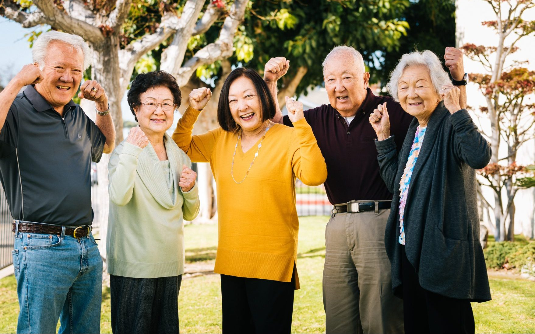 older adults looking into camera - empowerment