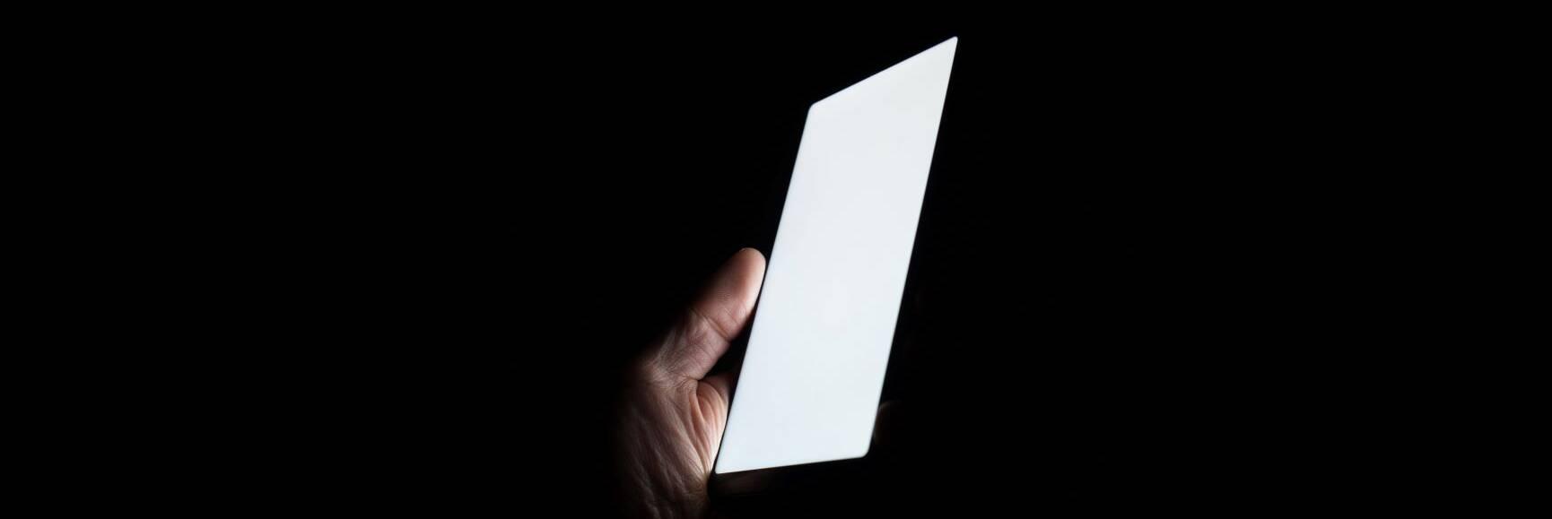 tablet in the dark