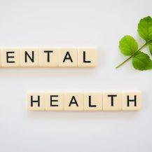 mental health on word blocks
